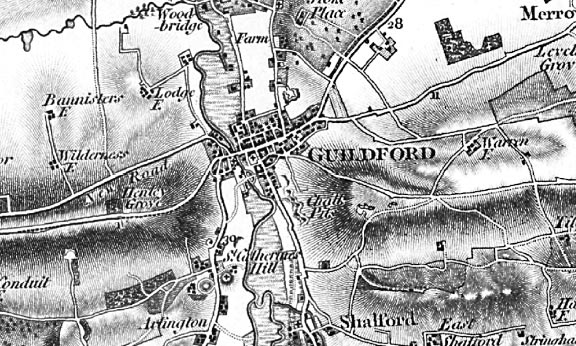 cassini map of the week  u2013 guildford 1816