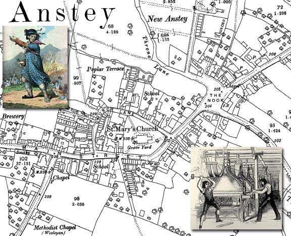 Map of Anstey - First Luddite