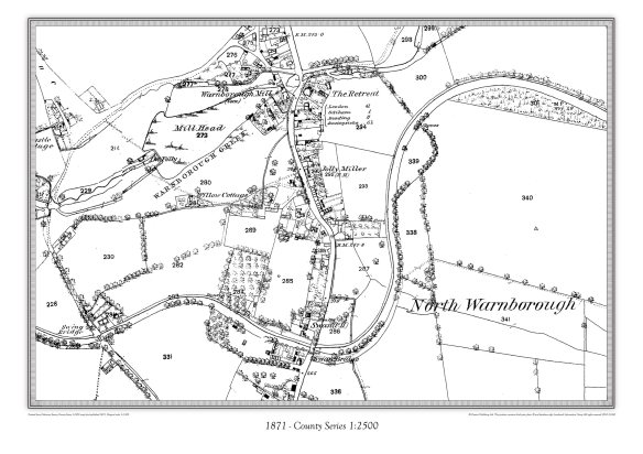 Warnborough - 1871. 1:2,500